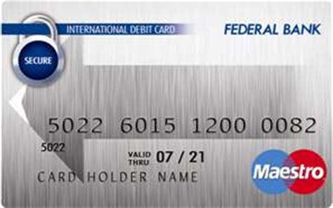 Maestro Gift Card - maestro card federal bank