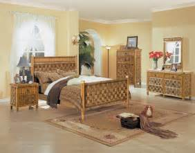 rattan bedroom sets b635 tahiti 4 pc natural wicker and rattan bedroom set by