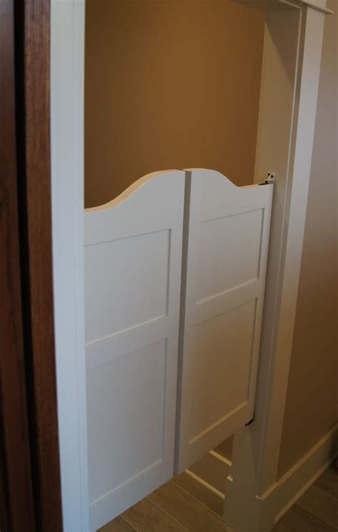 Saloon doors used as a door for a water closet great style bathroom pinterest shaker