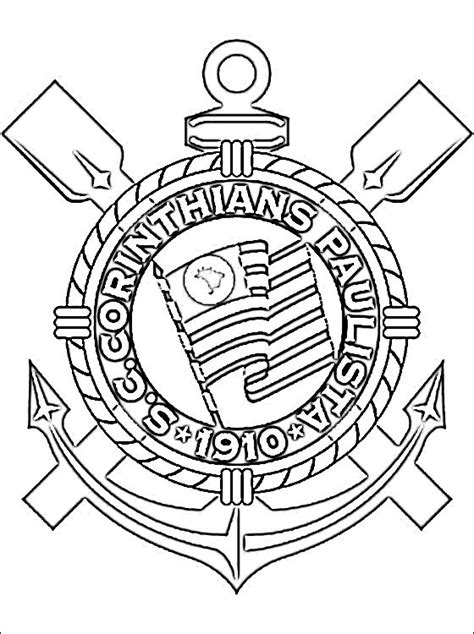 Logo of Sport Club Corinthians Paulista | Coloring pages