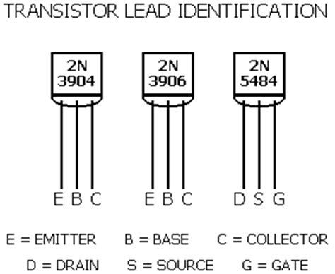 npn transistor leads transistor identification