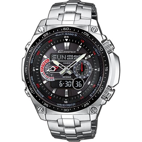 casio edifice ecw medb aer racing  solar wave ceptor