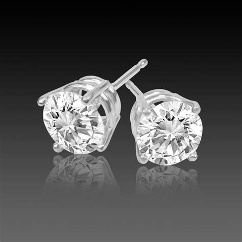 carat diamond earrings studs  carat vsh