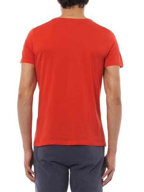 american vintage denver v neck t shirt in for lyst