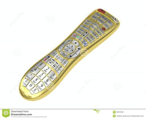 Multi Remote golden multi function remote stock illustration