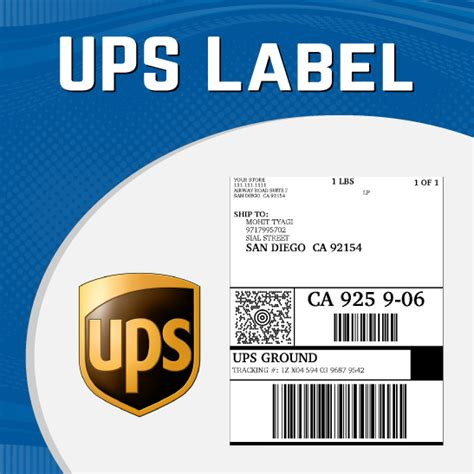 ups shipping label template ups label an opencart extension for ups shipping label print