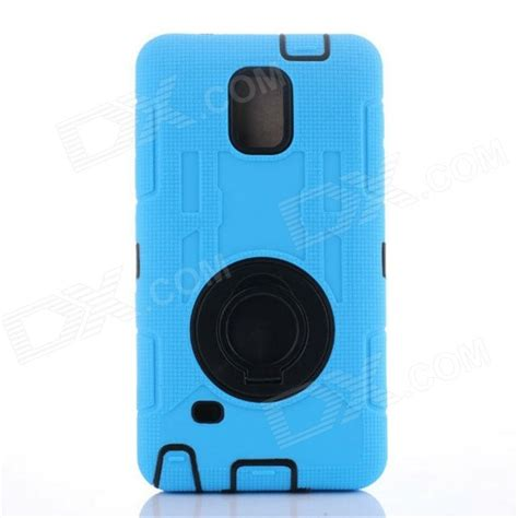 Samsung Galaxy Note 4 Sarung Armor Tpu Cover Casing tpu back cover armor for samsung note 4 n910 sky blue free shipping dealextreme
