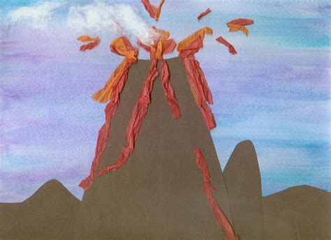 How To Make A Volcano With Construction Paper - crafts easy to make volcano