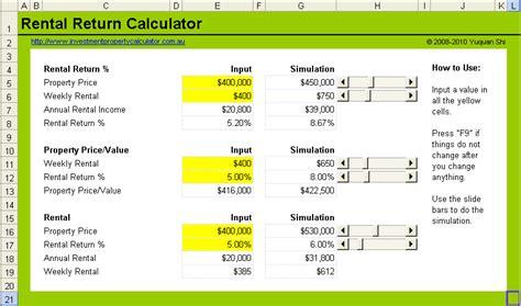calculator yield net rental yield calculator
