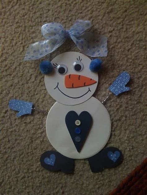 Snowy Crafts Kiddie Crafts 365 - snowman made from a paper plate it s actually a snow
