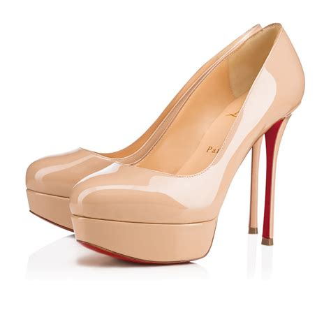 Shoes Christian Louboutin Po38 Dirditta Patent 130 Nu Patent Calfskin Shoes