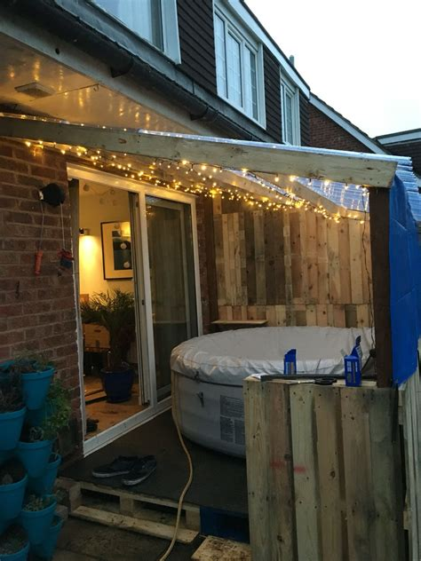 lay  spa recycled pallet hot tub outdoor hot tub
