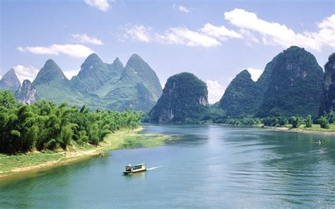 mountains wide river boat wallpapers mountains wide
