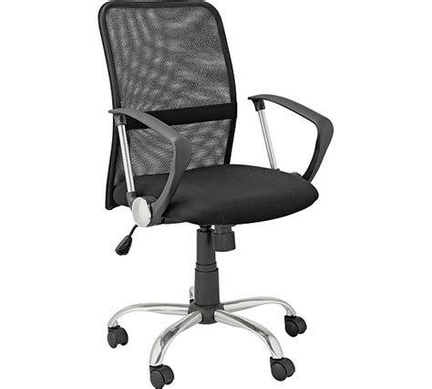 Back Support For Chair Argos by Buy Mesh Gas Lift Mid Back Adjustable Office Chair Black