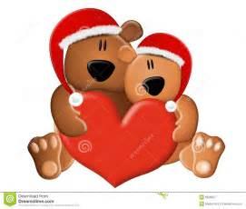 Christmas teddy bears love royalty free stock photography image