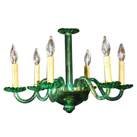 Unusual Venetian Green Glass Chandelier At 1stdibs Chandelier Green