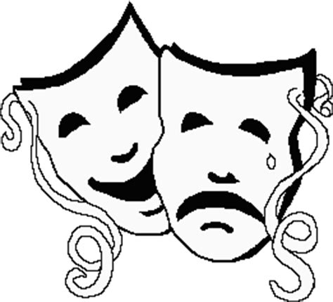 Theatre Mask Outline by Drama Index
