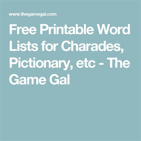 gal word generator 25 best ideas about charades word list on