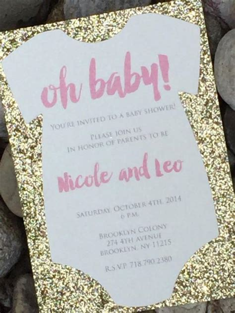 pink onesie baby shower invitations images baby shower invitation 25 glitter baby shower