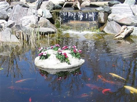 Floating Planters For Ponds by 25 Quot Floating Faux Rock 5 Pot Planter Water Garden Pond