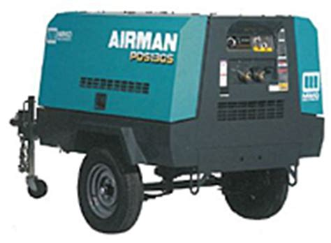 item pds130s 6b4 airman pds130s portable air compressor on compressed air systems inc