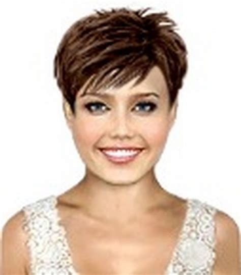 short hair with wispy back short stacked back wispy layered bang hair cut