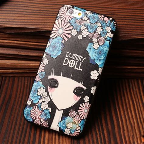 Softcase Flower Gril For Iphone5 tiger owl flower relief silicone soft cases for iphone 5 5s 6 6s iphone cases bygoods