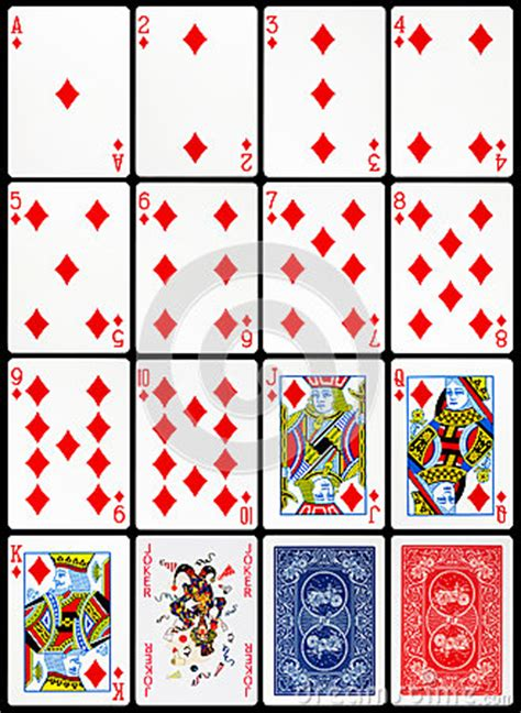 playing cards diamonds suit stock photo image