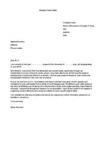 Cover Letter Internship Exles by Cover Letter For Internship