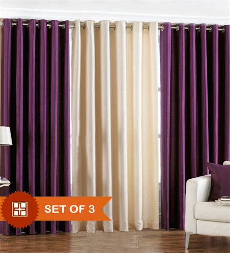 purple and cream curtains pindia cream purple polyester solid 84x48 inch door
