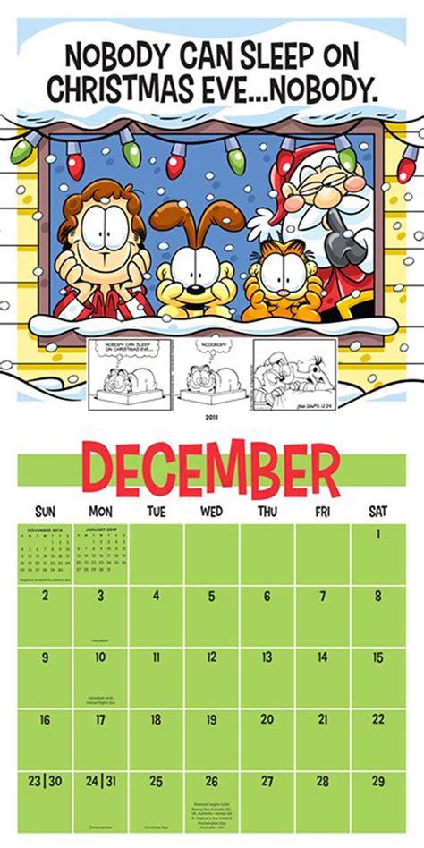 garfield  wall calendar gocomics store