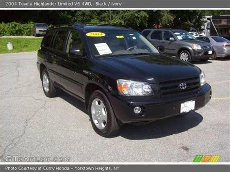 2004 Toyota Highlander Limited Black 2004 Toyota Highlander Limited V6 4wd Ivory
