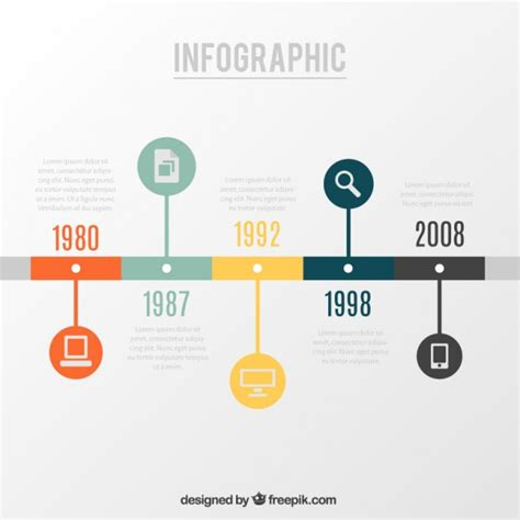 vector timeline infographic   graphic hunt