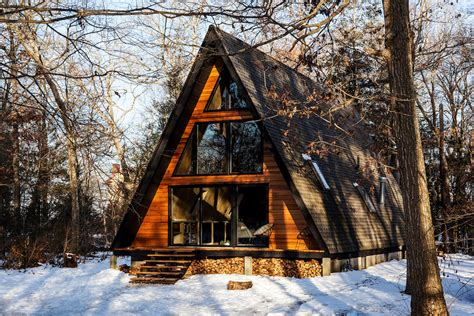 take a retreat to this scandinavian modern a frame cabin