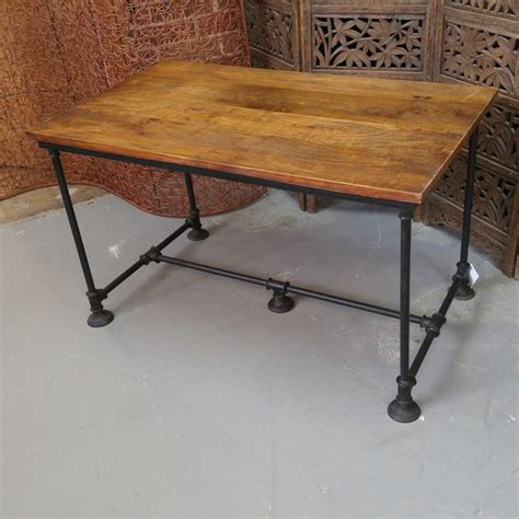 iron and wood dining table nadeau