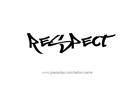respect tattoo design respect clipart best