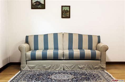 divano a letto in tessuto divano letto matrimoniale stile classico in tessuto a righe