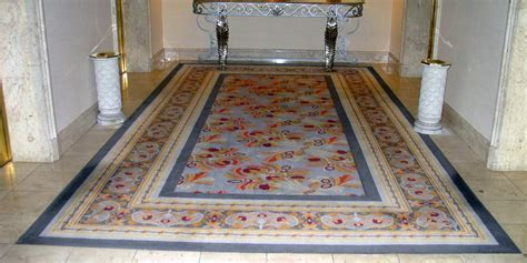 Marble Floor in a Hotel   Sicilian Pearl   Rosa Alicante