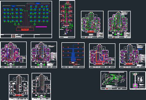 hospital electrical project dwg full project  autocad
