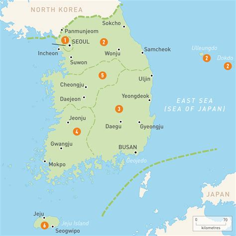 map of korea map of south korea south korea regions guides