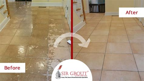 Grout Cleaning Service Tile Cleaning Service In Darien Ct Gives This Tile Floor An Extraordinary New Look