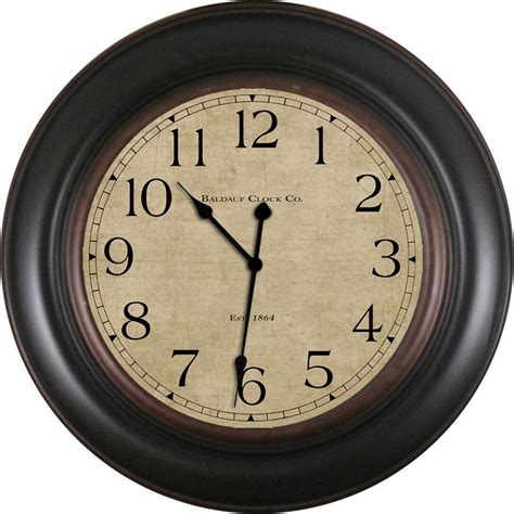 wall clock shop allen roth analog round indoor wall clock at lowes com