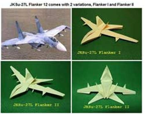 Fighter Plane Origami - origami patterns for dragons cranes flowers money