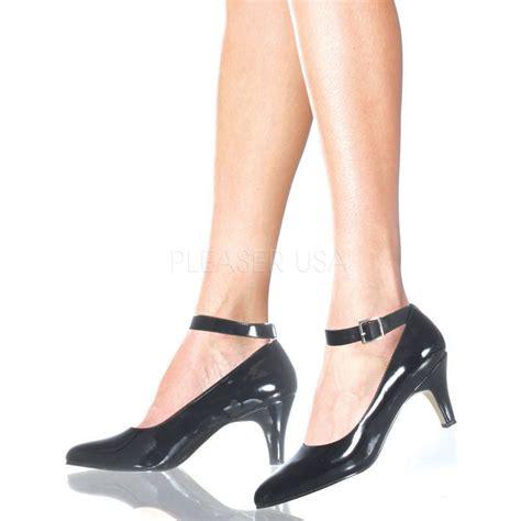 Hak Black plus size wide width 3 quot ankle black pumps
