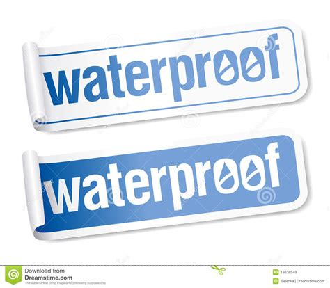 Aufkleber Wasserfest by Waterproof Stickers Royalty Free Stock Images Image