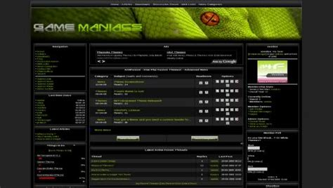 Free Php Fusion Games Community Clan Web2 0 Theme Gaming Community Website Templates