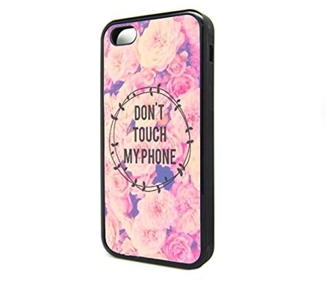 Casing Iphone 5 5s Se Fashion Chrystanium Flower iphone 5s 5 for boys popular quote don t touch