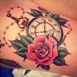 Amaryllis Flower Meaning - old clock and rose tattoo images