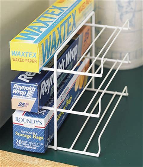 Shelf Wrap Rack by Wrap Rack Kitchen Cabinet Organization Kitchen