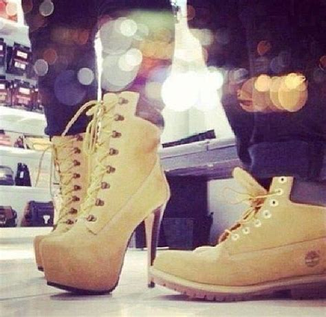 swag boots for his hers timberland boots and heels swag fashion couples